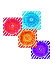 """Love Floral Art"" Printed Mdf Coaster Set - Shopkeeda"