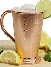 AsiaCraft 100 % Pure Copper Julep Shape Moscow Mule Mug - 18 Oz -  online shopping for Travel Mugs