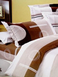 Brown Poly Cotton Bedsheet Set - Aqua Marine