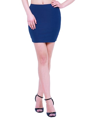 2133eaf9f6 Buy Blue Cotton Jersey Skirts for Women from Faballey for ₹950 at 0% off    2019 Limeroad.com
