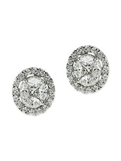 White Gold Studs Earring - By