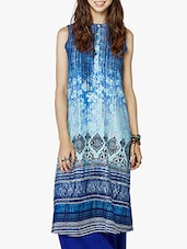 GLOBAL DESI Blue Viscose Kurta - By