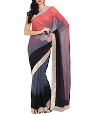 black chiffon saree -  online shopping for Sarees