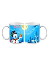 Merry Christmas Snow Man Printed Mug - Start Ur Day