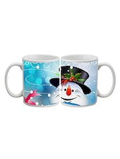 Snow Man Printed Ceramic Mug - By