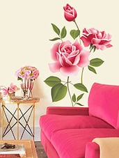 Wall Stickers Flowers Roses Valentines Love Romantic With Green Leaves  Bedroom Design   Online Shopping For Part 38