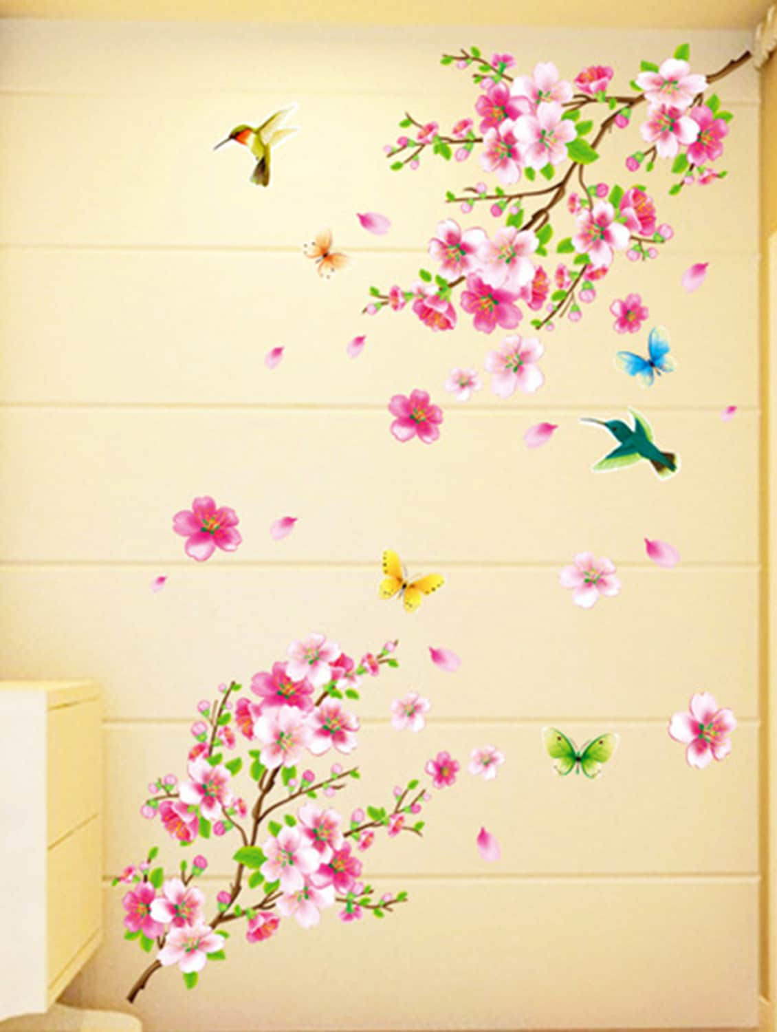 Buy Wall Stickers Flowers Tv Background Branch Led Lcd Living Area ...