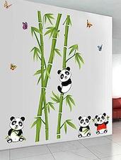 Wall Stickers Nursery School Kids Baby Room Cute Little Animals Panda On  Bamboo Trees   Online Part 60