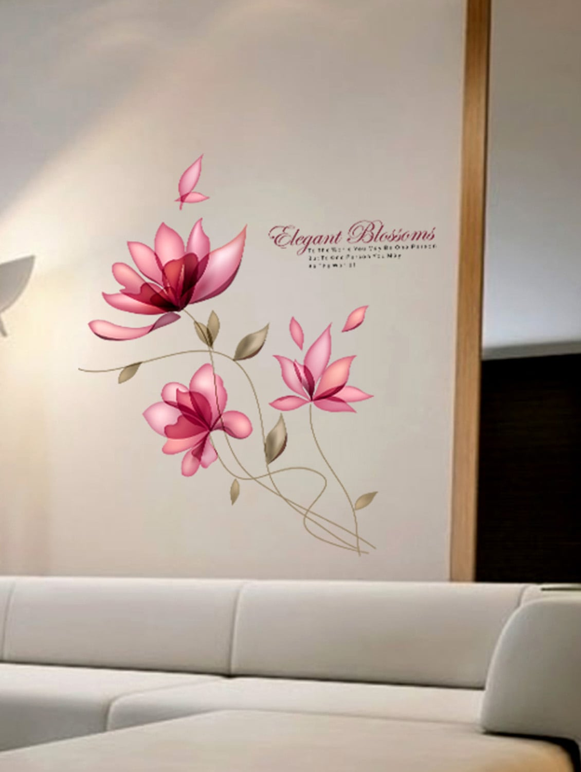 Buy Wall Stickers Flowers Blossoms Sofa Background Living Room