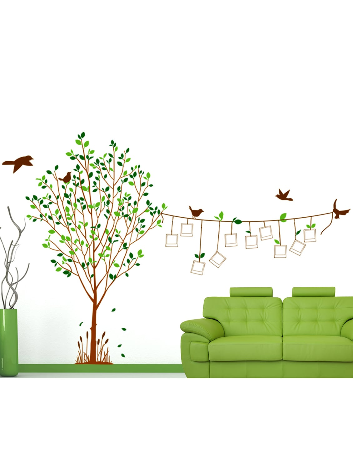Buy Wall Stickers Family Tree Living Room Decal With Blank Photo ...