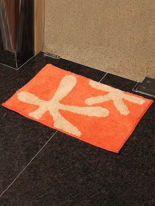 PO Box orange  Cotton bath mat -  online shopping for bath mats