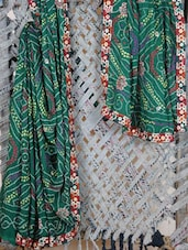 Embroidered Border Bandhej  Georgette Saree - Lazza