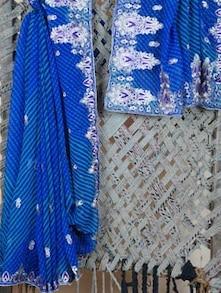 Heavy Embroidery Border Lehariya Georgette Saree - Lazza - 1037178