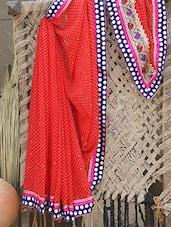 Lacy Border Georgette Saree - Aari Taari
