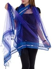 Blue Tissue Plain  Dupatta - By