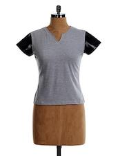 Contrast Short Sleeve TOP - VEA KUPIA