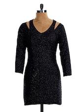 Shimmery Black Min Dress - VEA KUPIA