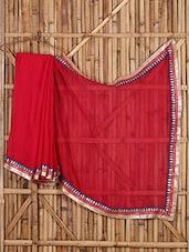 Embroidered Bordered Saree - Saree Street