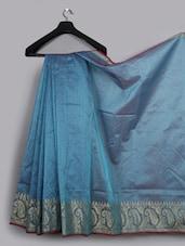 Paisley Zari Woven Cotton Silk Saree - WEAVING ROOTS - 1039006