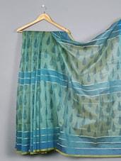 Paisley Pallu Printed Cotton Silk Saree - WEAVING ROOTS