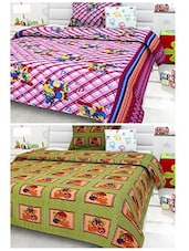Story@Home 136 TC St Of 2 Single Bedsheet With 2 Pillow Cover - By