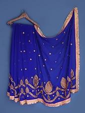 Royal Blue Georgette Saree - Suchi Fashion