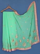 Light Green Chiffon Saree - Suchi Fashion