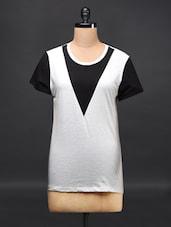 Colour Block Cotton Top - Femella