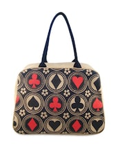 Playing Cards Printed Travel Bag - ANGES BAGS