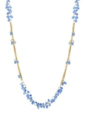 Blue,gold Gold Plated Alloy Metal Short  Necklace - By