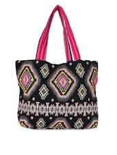Black Leatherette Handbag - Fashion Folio