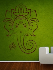 Shree Ganesha Outline Wall Sticker - Decor Kafe