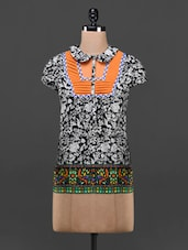 Printed Short Sleeves Cotton Top - Glam And Luxe