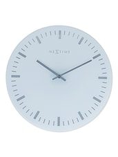 Frosted Glass Round Face Wall Clock - NeXtime