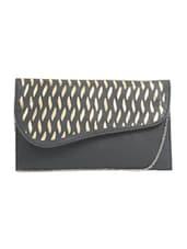 Black Leatherette Regular Clutch - By