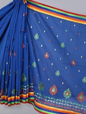 Banarasi Chanderi Royal Blue  Saree - Avishi Saree