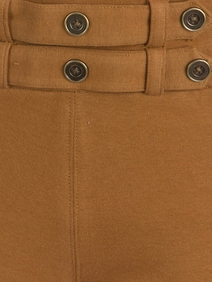 tan cotton jeggings - 10460734 - Standard Image - 4