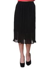 Black Pleated Casual Skirt - Purys