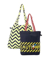 Graphic Printed Canvas Tote Bags Combo - Be... For Bag - 1046704