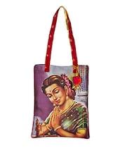 Graphic Printed Cotton Tote Bag - The House Of Tara