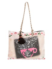 Floral Printed Cotton Canvas Tote Bag - The House Of Tara