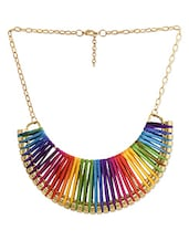 Multicoloured Brass Necklace - Dynamic Designs