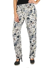 Floral Print Crepe Pant - By