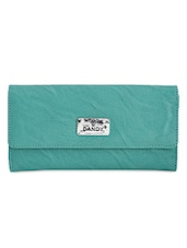 Green Textured Multi Pocket Ladies Wallet - Dandy