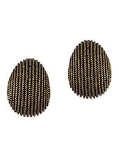 Antique Golden Clip On Stud Earrings - THE BLING STUDIO