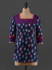 Printed Square Neck Cotton Top - AKYRA