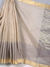 Pin Striped Cotton Silk Saree - BANARASI STYLE