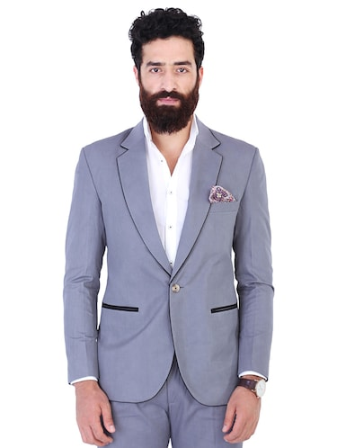 Buy Grey Formal Jacket Black Casual Shirts Black Casual Trousers