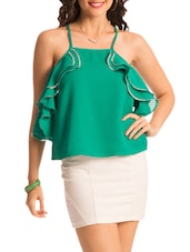 Green Ruffled Top - PrettySecrets
