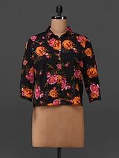 Floral Printed Polycrepe Shirt - Oxolloxo